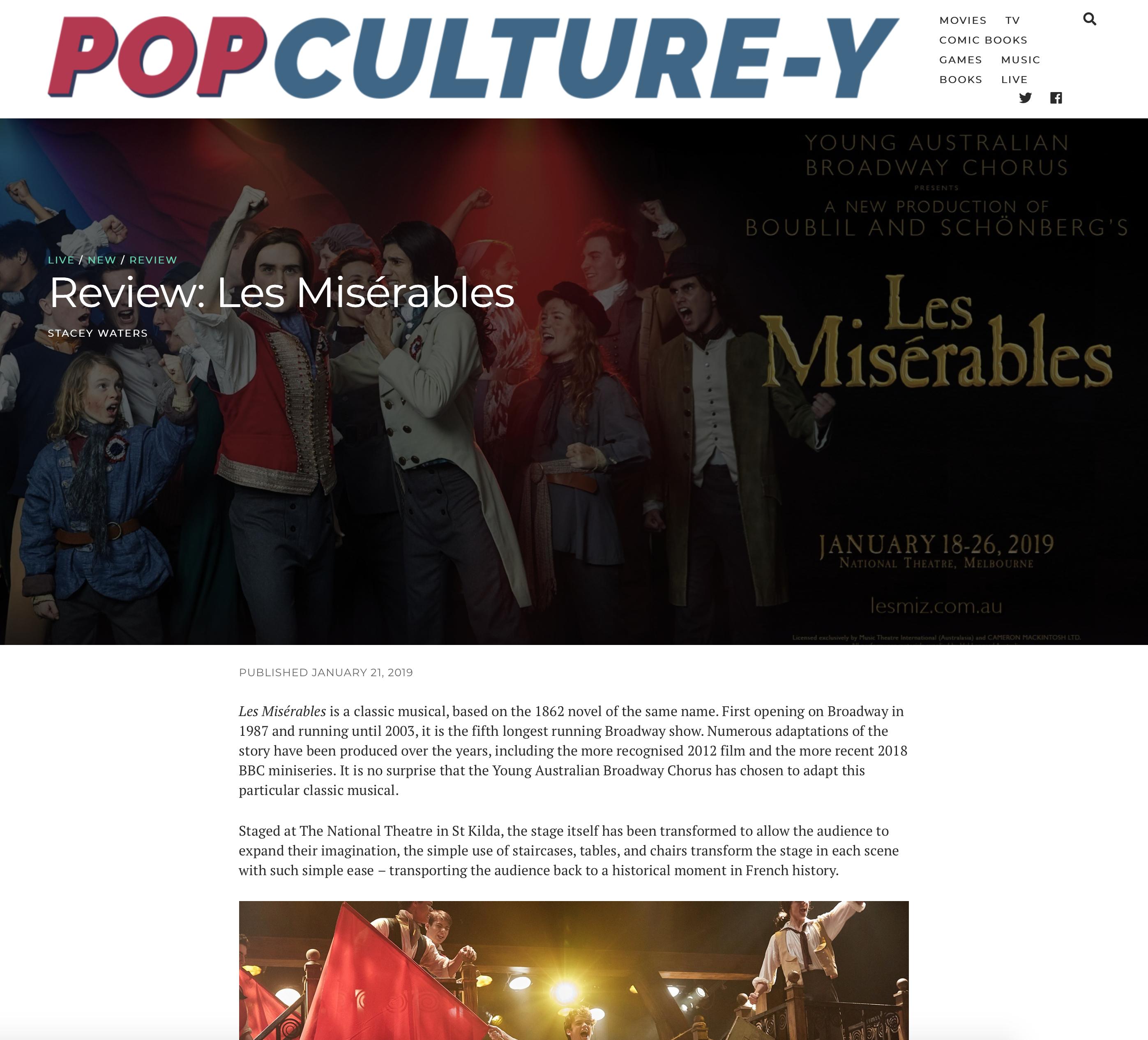 Les Misérables | Stage School Australia